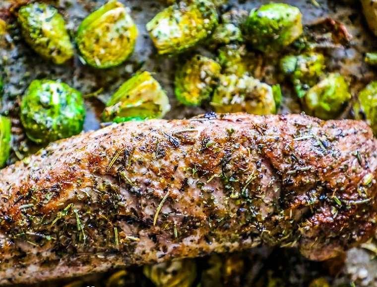 recetas de solomillo de cerdo-asado-verduras-ideas-originales