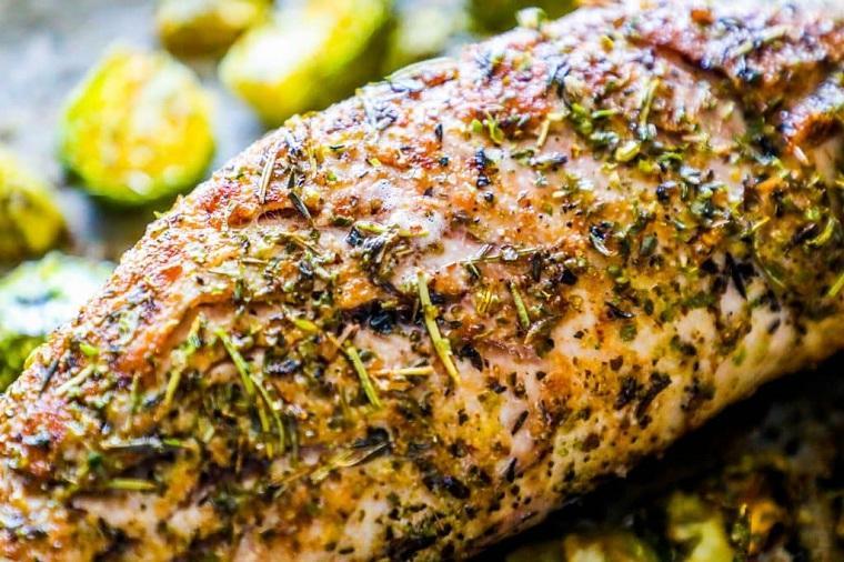 recetas de solomillo de cerdo-asado-verduras-ideas