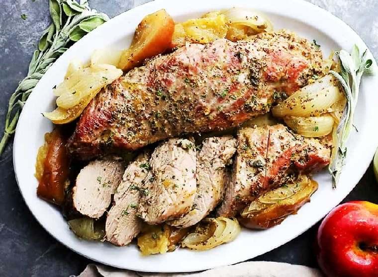 recetas-de-solomillo-de-cerdo-manzana-mostaza
