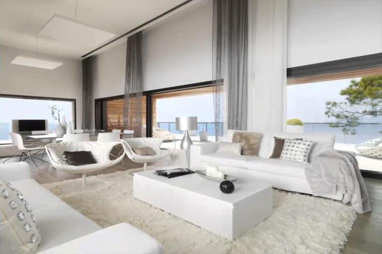 salas modernas-elegantes-blanco