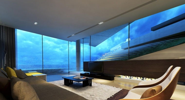 salas modernas-paredes-cristal