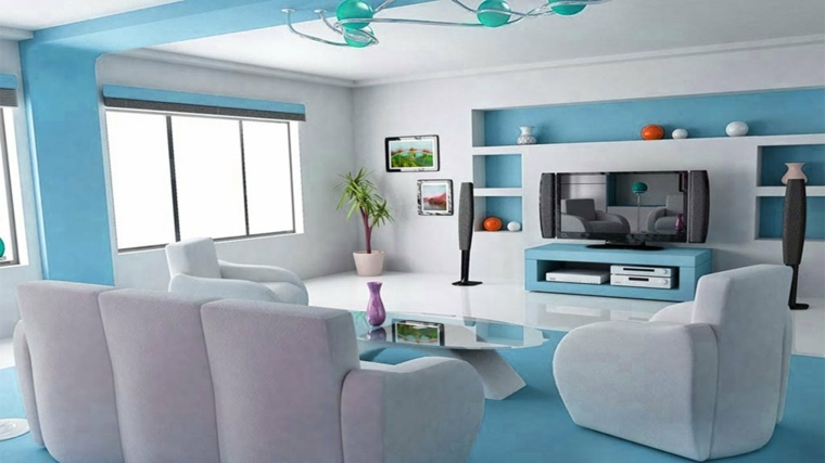 salas modernas-pequenas-azul