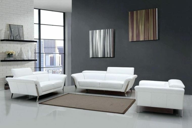 salas pequenas-muebles-blancos