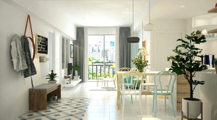 salas y comedores pequenos-decorados