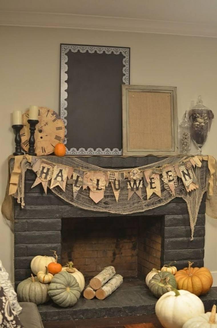 Halloween de estilo rústico con guirnalda