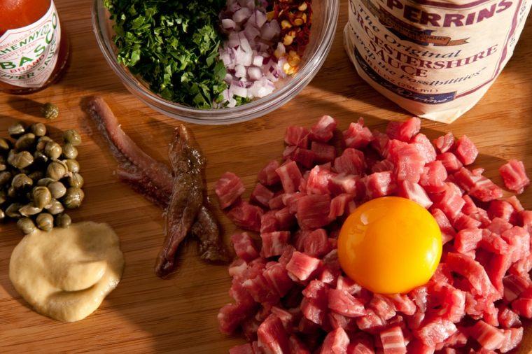 tartar de atun con aguacate-ingredientes