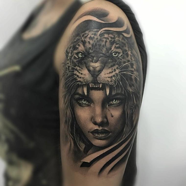 tatuaje-hombre-hombro-rostro-mujer