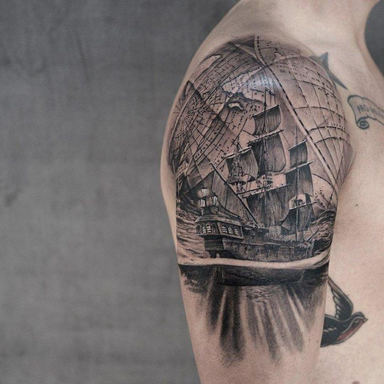 tatuaje-hombro-barco-estilo-ideas