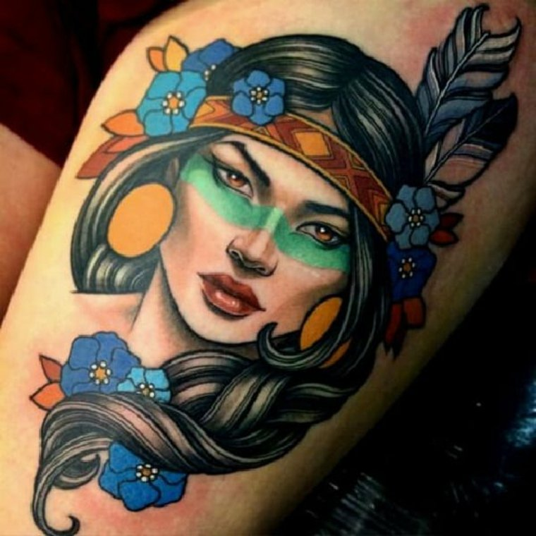 tatuaje-neo-tradicional-cara