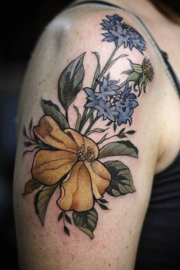 tatuajes-flores-hombro-opciones