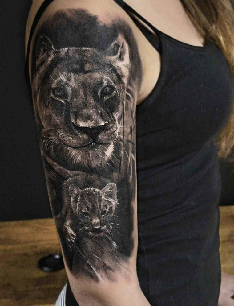 tatuajes-hombro-leona-ideas