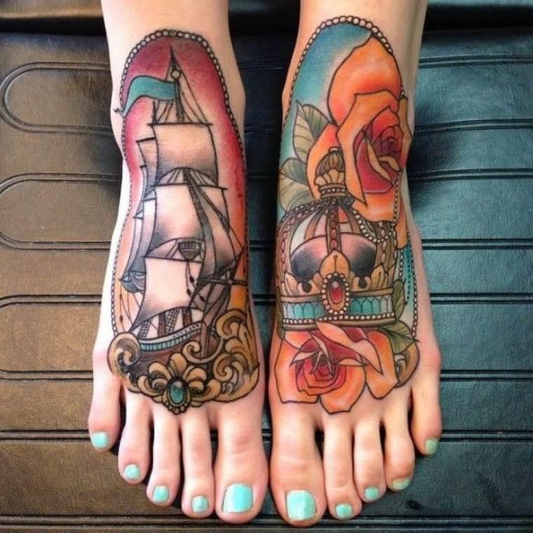 tatuajes neo-tradicionales-barco