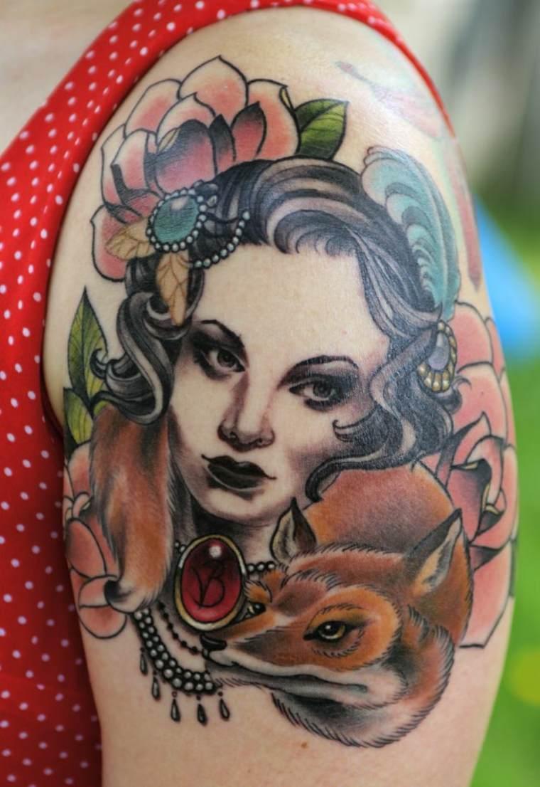 tatuajes-neo-tradicionales-cara-de-mujer