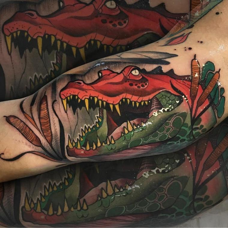 tatuajes-neo-tradicionales-cocodrilo