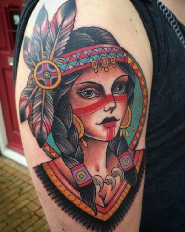tatuajes neo-tradicionales-india