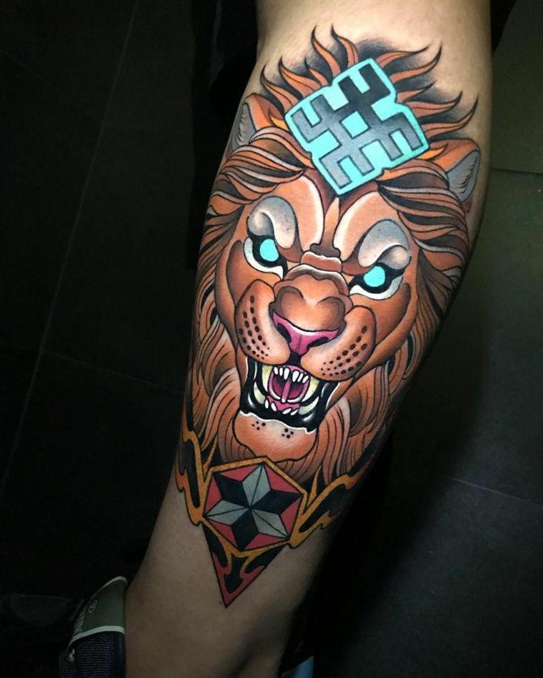tatuajes neo-tradicionales-leon