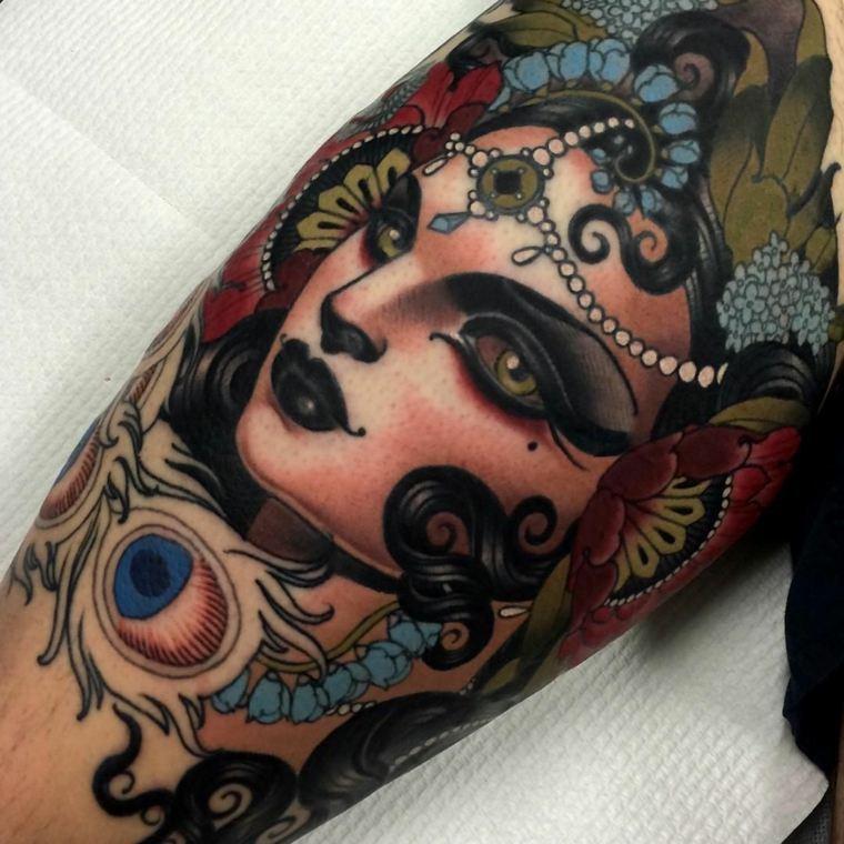 tatuajes neo-tradicionales-mujer