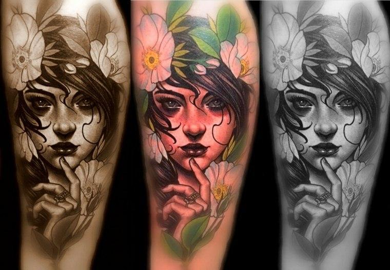tatuajes neo-tradicionales-mujeres
