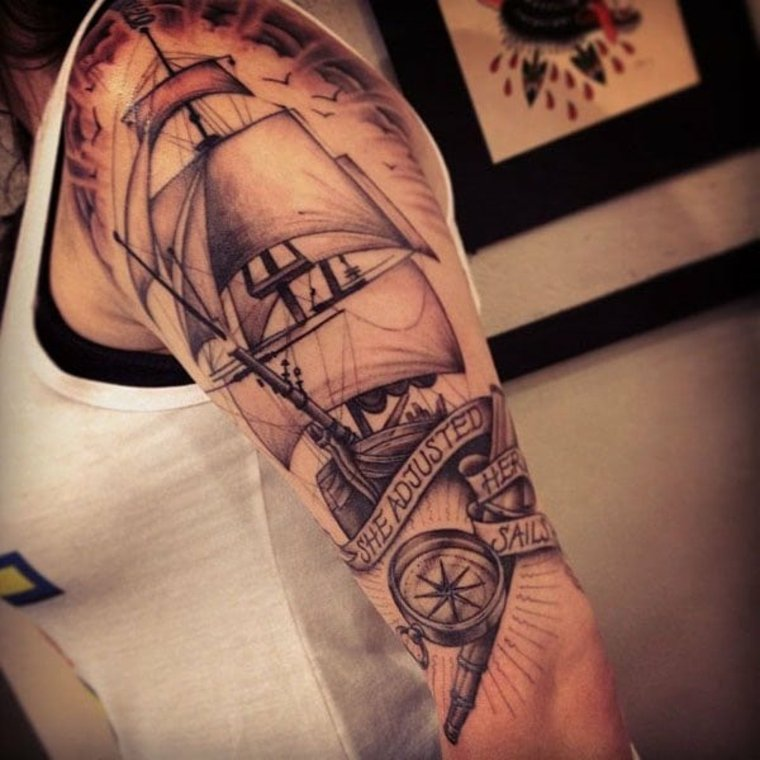 tatuajes neo-tradicionales-navales