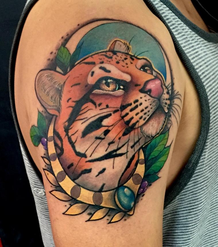 tatuajes neo-tradicionales-tigre