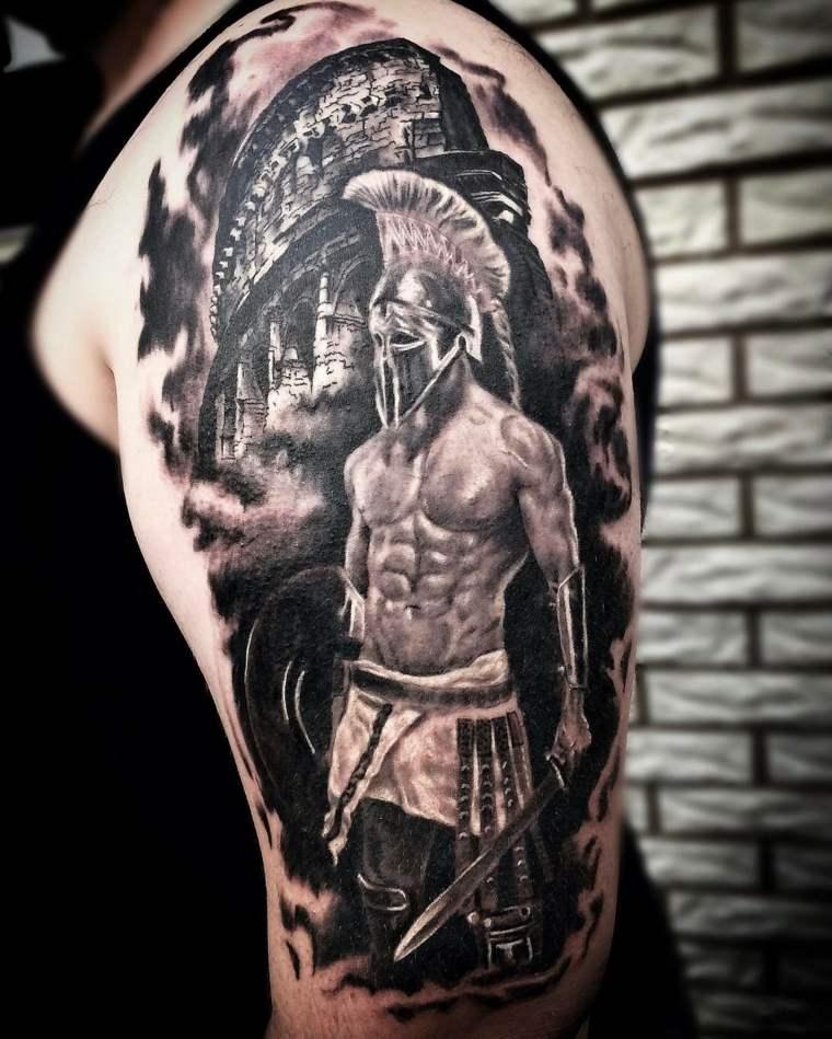 tatuajes-para-el-hombro-gladiador-ideas