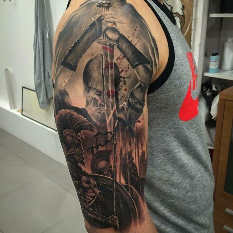tatuajes-para-el-hombro-gladiador