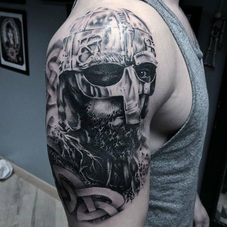 tatuajes para el hombro-ideas-guerrero