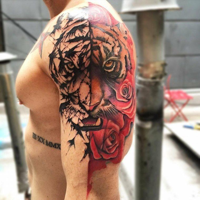 tatuajes-para-el-hombro-originales-tigre