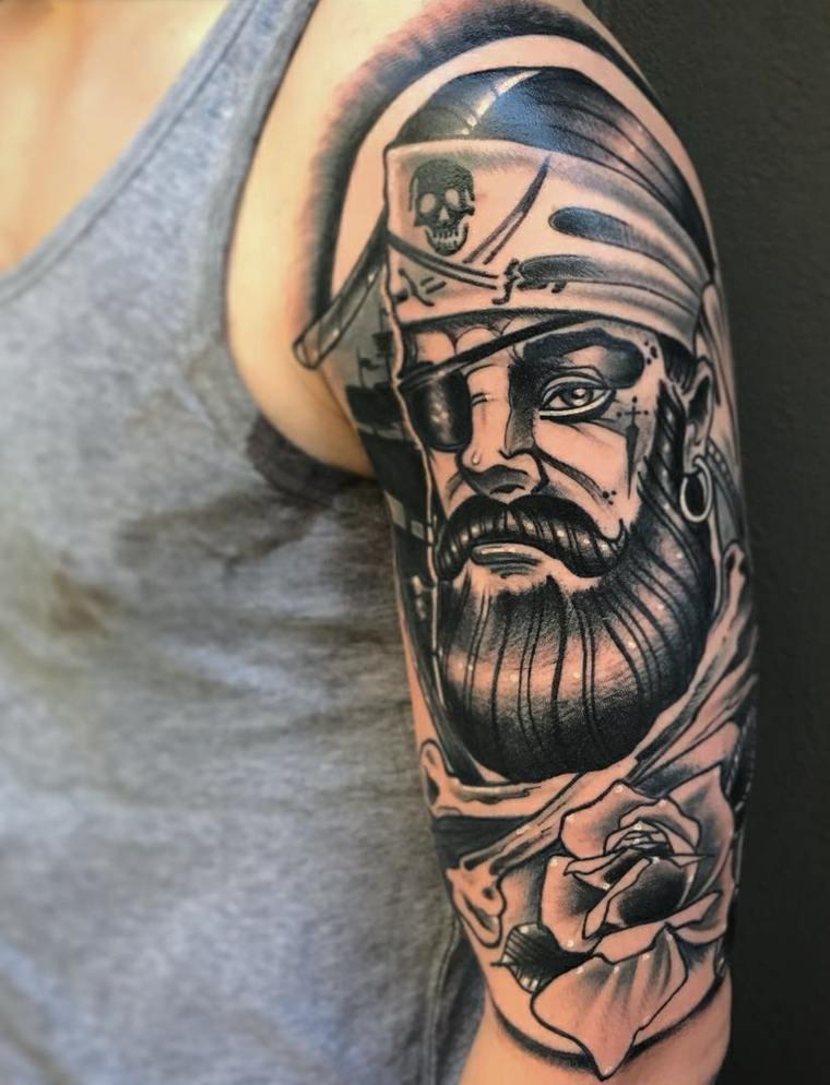 tatuajes-para-el-hombro-pirata