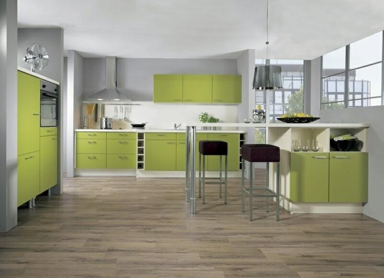 tonos de verde-diseno-cocina