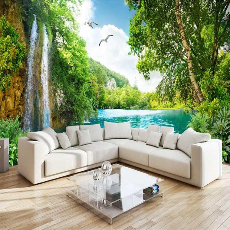 tonos de verde-paisaje-interior
