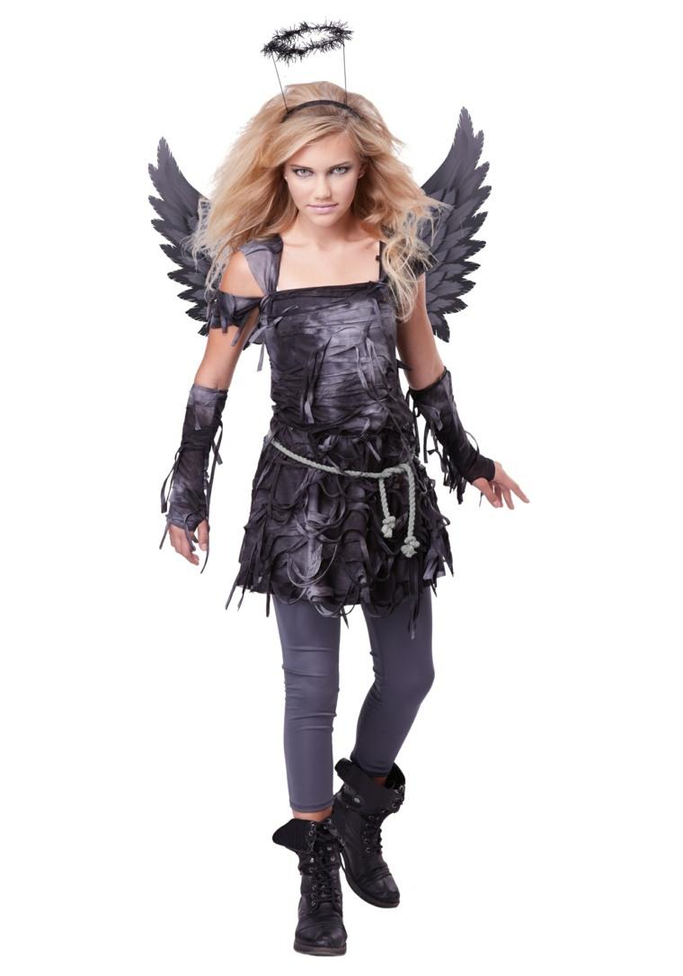 trajes de halloween para ninas-angel-caido