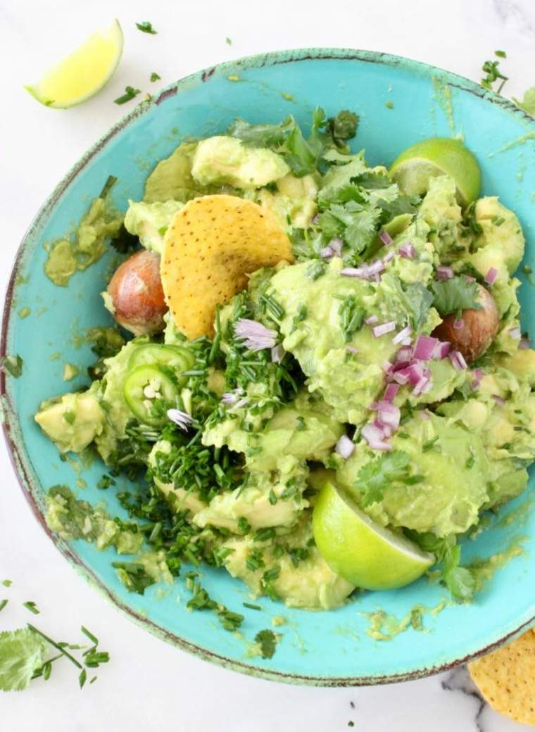salsa aguacates verduras