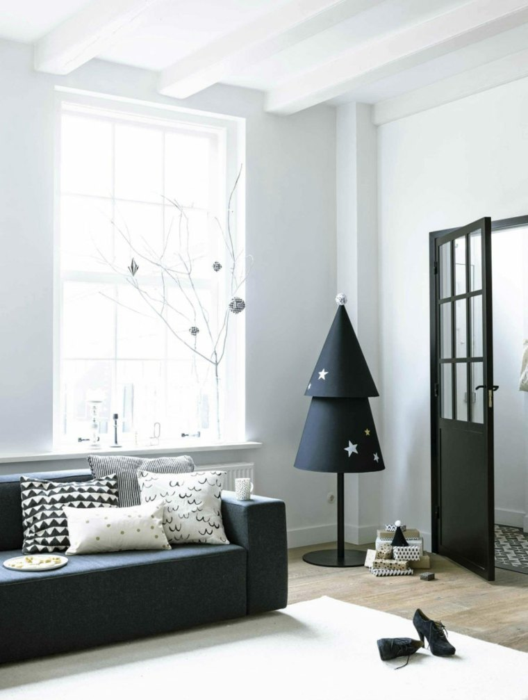 ideas de decoración navideña moderna color negro