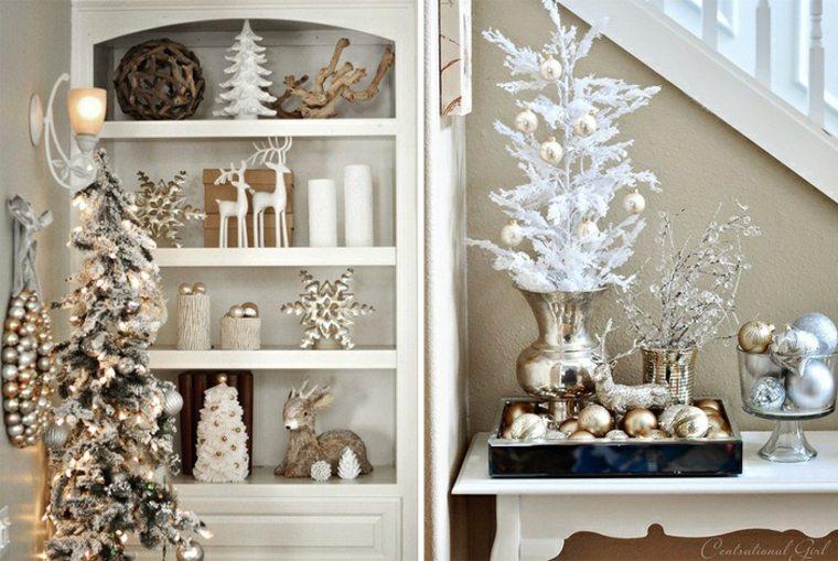 Temas de Navidad con brillos metálicos