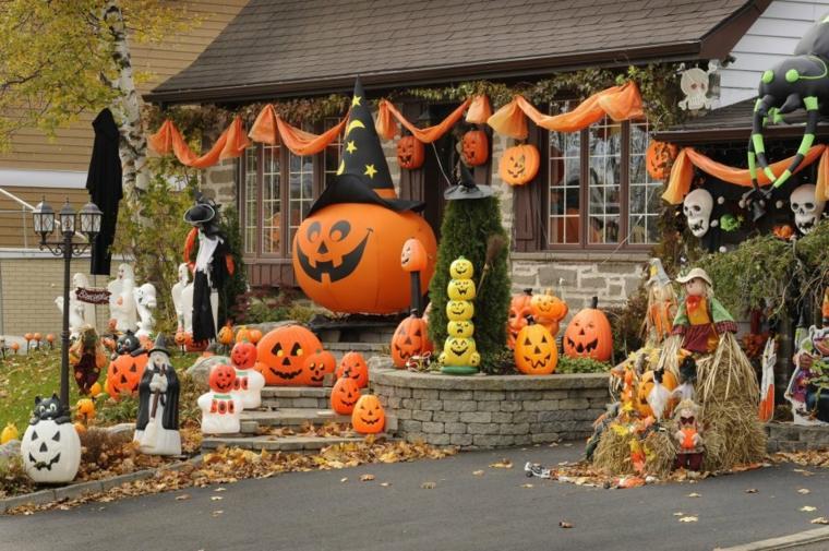 adornos de halloween-decorar-jardin