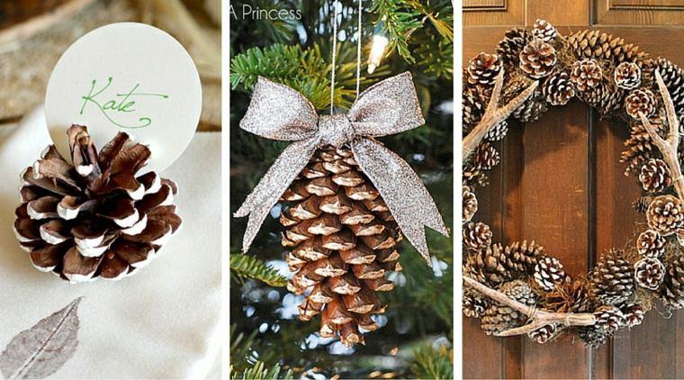 adornos de navidad-decorar-pinas