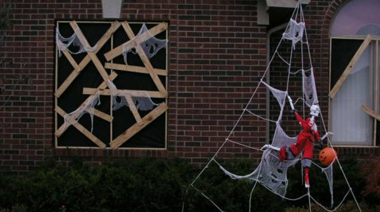 adornos halloween-ventana