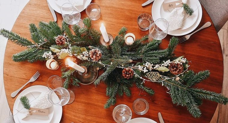 adornos navidenos faciles de hacer-mesa
