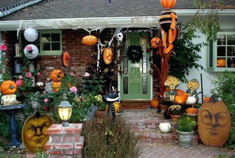adornos para halloween-decorar-jardin