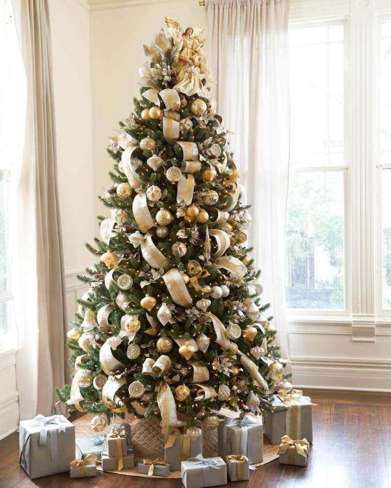 arbol de navidad-decoracion-dorada