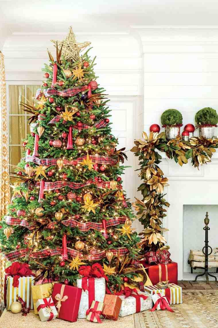 arbol de navidad-decorado-salon