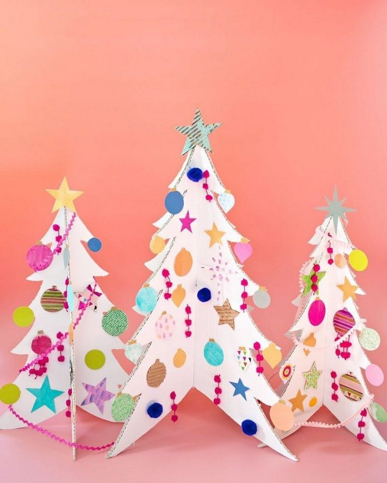 arboles-carton-navidad-manualidades