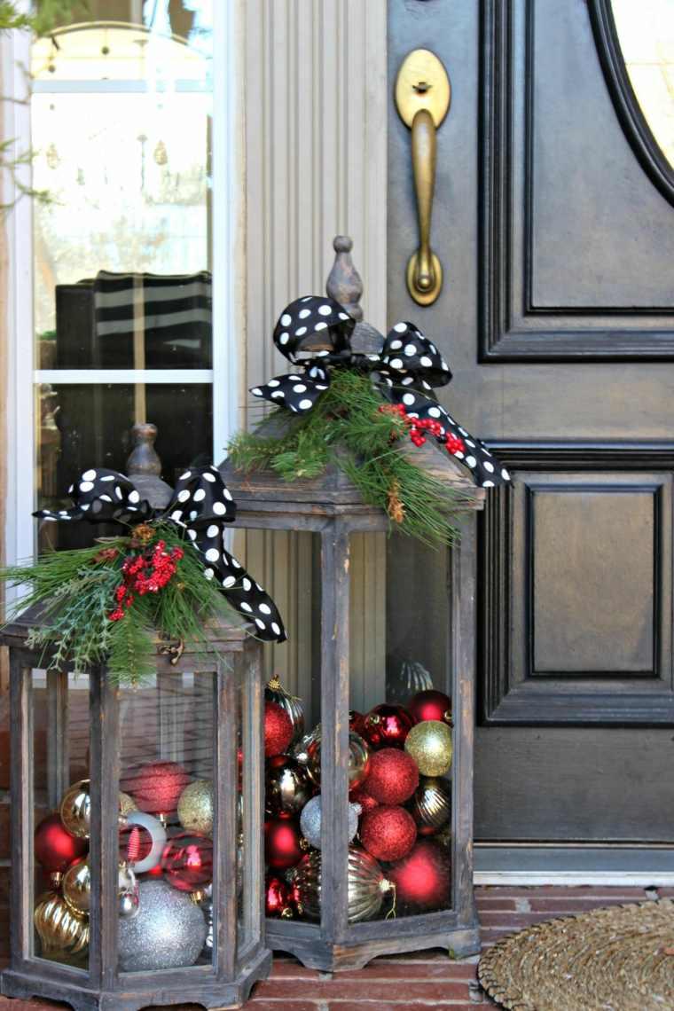 arreglos de navidad-puerta-entrada