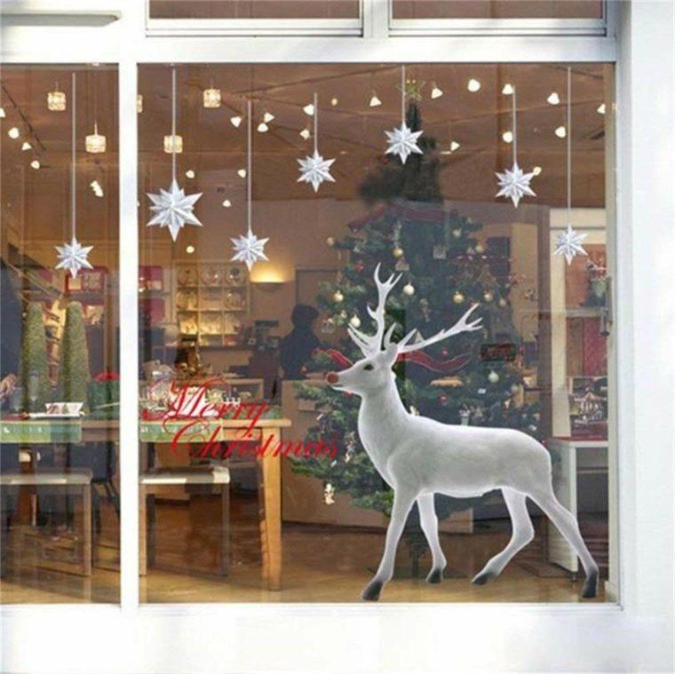 arreglos de navidad-ventana-ciervo