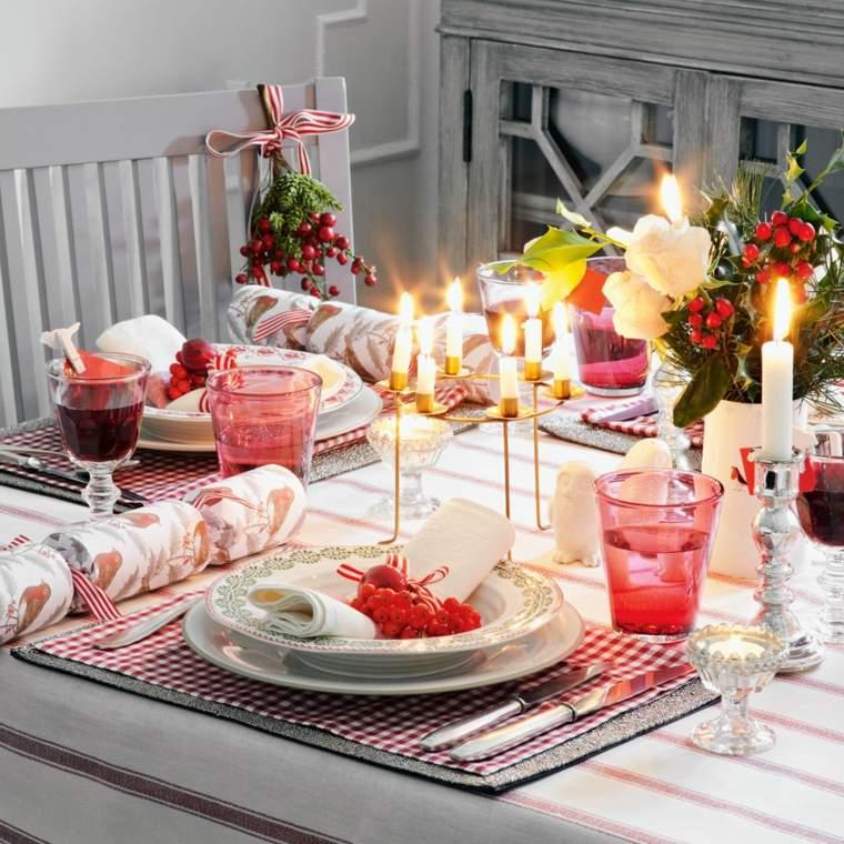 arreglos navidenos para mesa-velas