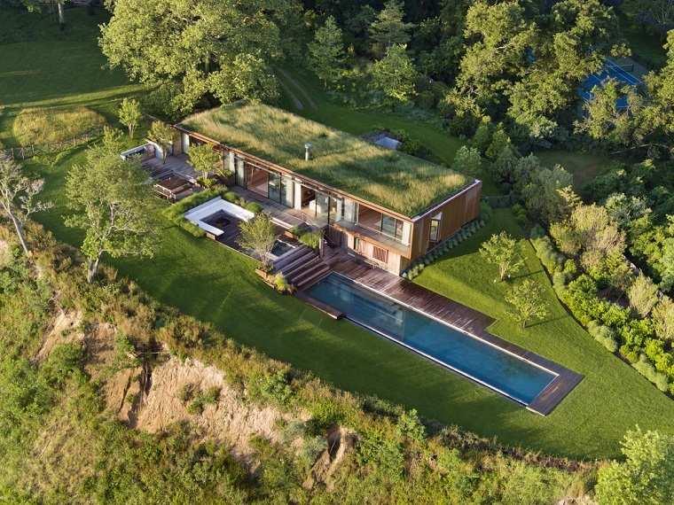 casas ecologicas piscina rectangular