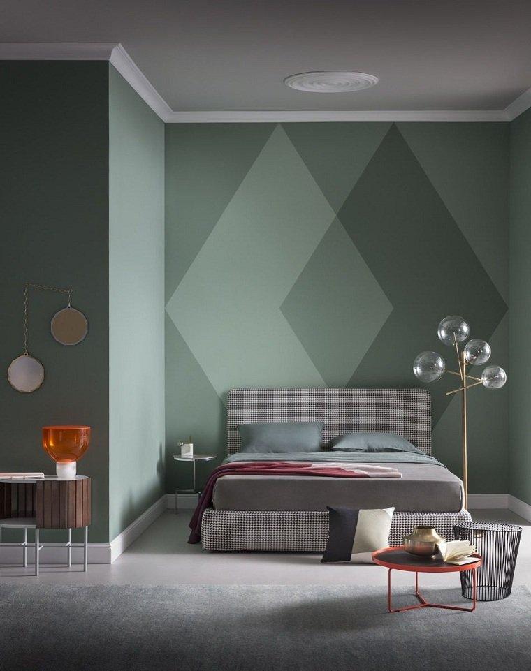 Diseño de cuartos pintados - La tecnica del bloqueo de color -