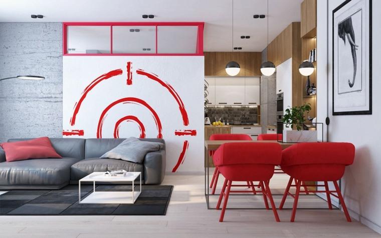combinacion-gris-rojo-diseno-interior