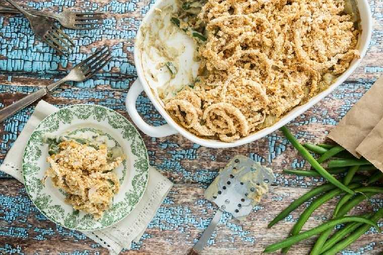 comida-vegana-spa-guiso judias-verdes-cebolla